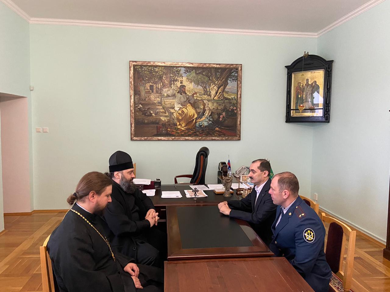 В Майкопской и Адыгейской епархии обсудили вопросы взаимодействия с УФСИН России по Республике Адыгея